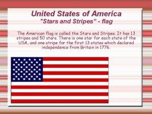 United States of America Stars and Stripes flag