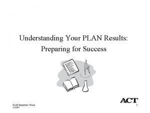 Understanding Your PLAN Results Preparing for Success PLAN