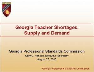Georgia Teacher Shortages Supply and Demand Georgia Professional