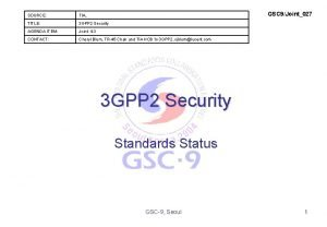 GSC 9Joint027 SOURCE TIA TITLE 3 GPP 2