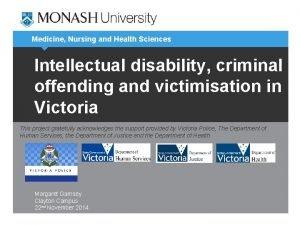 Medicine Nursing and Health Sciences Intellectual disability criminal