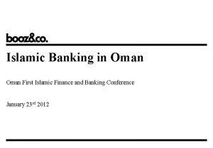 Islamic Banking in Oman First Islamic Finance and