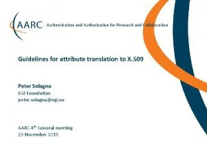 Authentication and Authorisation for Research and Collaboration Guidelines