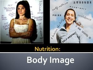 Nutrition Body Image What does Body Image mean