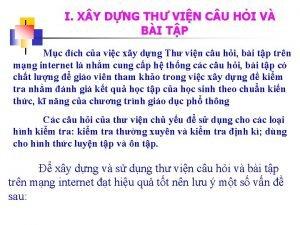 I X Y DNG TH VIN C U