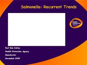 Salmonella Recurrent Trends Prof Eric Bolton Health Protection