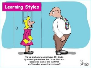 Learning Styles The Seven Learning Styles 1 Visual