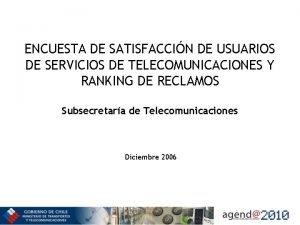 ENCUESTA DE SATISFACCIN DE USUARIOS DE SERVICIOS DE