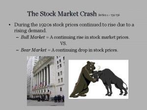 The Stock Market Crash Section 1 732 736