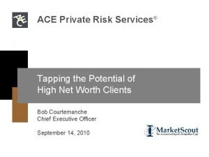 ACE Private Risk Services Tapping the Potential of
