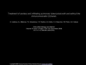 Treatment of cavitary and infiltrating pulmonary tuberculosis with