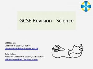 GCSE Revision Science Cliff Broom Curriculum Leader Science