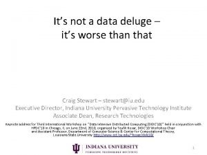 Its not a data deluge its worse than