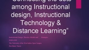 Connecting the dots among Instructional design Instructional Technology