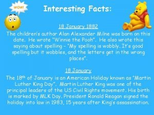 Interesting Facts 18 January 1882 The childrens author