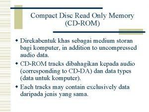 Compact Disc Read Only Memory CDROM w Direkabentuk
