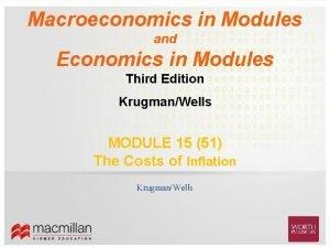 Macroeconomics in Modules and Economics in Modules Third