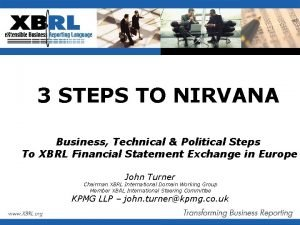 3 STEPS TO NIRVANA Business Technical Political Steps