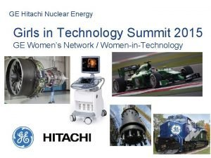 GE Hitachi Nuclear Energy Girls in Technology Summit