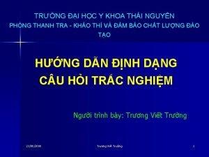 TRNG I HC Y KHOA THI NGUYN PHNG