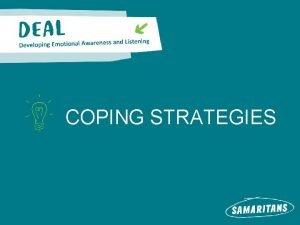 COPING STRATEGIES MANAGING STRESS MAKING CHOICES Circles of