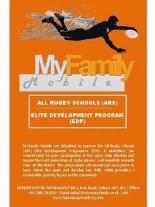 ALL RUGBY SCHOOLS ARS ELITE DEVELOPMENT PROGRAM EDP