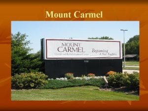 Mount Carmel A Bedtime Story Once upon a