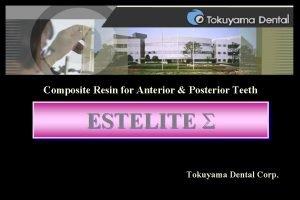 Composite Resin for Anterior Posterior Teeth ESTELITE Tokuyama