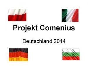 Projekt Comenius Deutschland 2014 Wirtschaft und Handel Italien