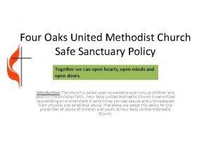 Four Oaks United Methodist Church Safe Sanctuary Policy