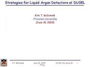 Strategies for Liquid Argon Detectors at DUSEL Kirk