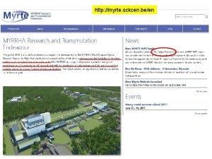 CERN benjamin toddcern ch http myrte sckcen been