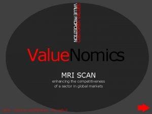 CUSTOMER VALUES VALUE PROPOSITION Value Nomics MRI SCAN