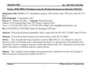 September 2001 doc IEEE 802 15 01436 r