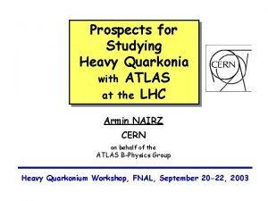 Prospects for Studying Heavy Quarkonia with ATLAS at