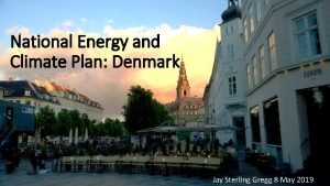 National Energy and Climate Plan Denmark Jay Sterling