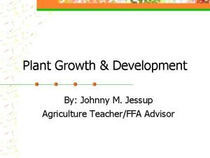 Plant Growth Development By Johnny M Jessup Agriculture
