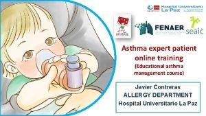 Asthma expert patient online training Educational asthma management