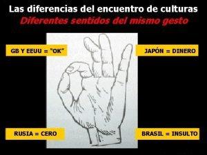 Las diferencias del encuentro de culturas Diferentes sentidos