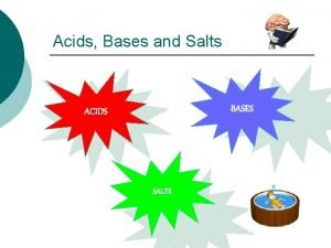 Acids Bases and Salts BASES ACIDS SALTS Acids