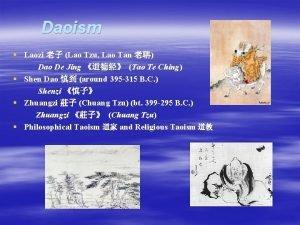 Daoism Laozi Lao Tzu Lao Tan Dao De
