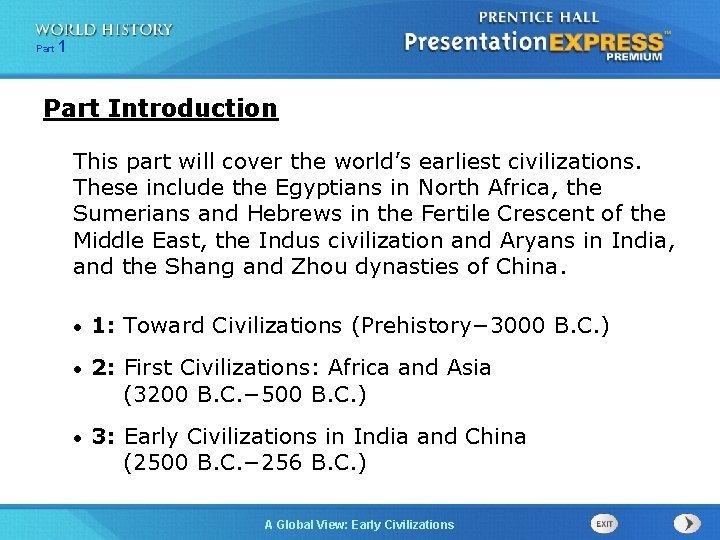 Part 1 Part Introduction This part will cover