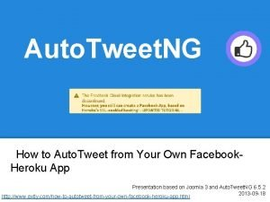 Auto Tweet NG How to Auto Tweet from