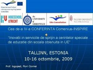 Cea dea IVa CONFERINTA ComeniusINSPIRE Inovatii in serviciile