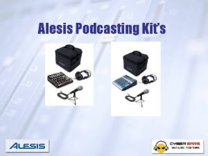 Alesis Podcasting Kits What is A Podcast The
