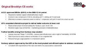 Original Brooklyn CS works ACCC approved 58 6