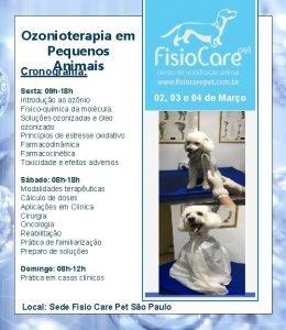 Ozonioterapia em Pequenos Animais Cronograma Sexta 09 h18