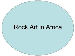 Rock Art in Africa Map of North Africa
