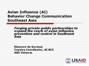 Avian Influenza AI Behavior Change Communication Southeast Asia