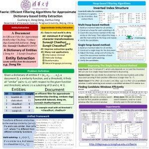 Heapbased Filtering Algorithms Faerie Efficient Filtering Algorithms for